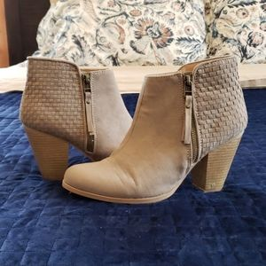 Maurice's Taupe Ankle Booties